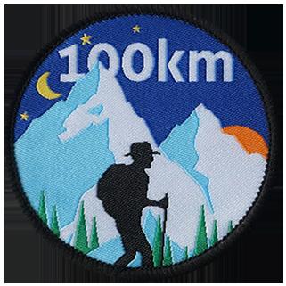insigne tissé rond 100 km